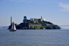 Alcatraz dalla baia Fotografia Stock Libera da Diritti