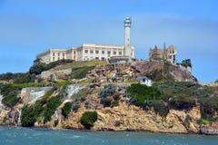 Alcatraz der Felsen Stockbild