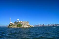 Alcatraz e San Francisco Fotografia Stock