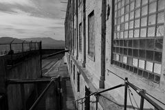 Alcatraz exercise yard Stock Photography