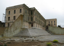 Alcatraz exercise yard. A view of the exercise yard on Alcatraz island, San Francisco, California Royalty Free Stock Photo