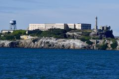 Alcatraz Federal Prison. This is a Spring picture of the historic Alcatraz Federal Prison on Alcatraz Island in San Francisco Bay located in San Francisco Stock Photography