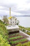 Alcatraz Garden & Power House, San Francisco, California Stock Image