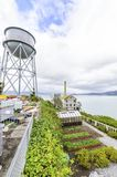Alcatraz Garden & Water Tower, San Francisco, California Stock Image