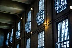 Alcatraz-Gefängnis Windows Lizenzfreies Stockbild