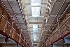 Alcatraz-Gefängnis-Zellblock stockfotografie