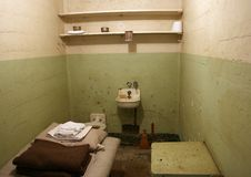 Alcatraz Gefängniszelle Stockbilder