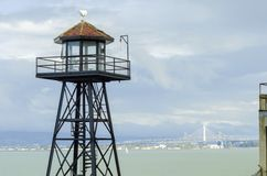 Alcatraz Guard Tower, San Francisco, California Royalty Free Stock Photo