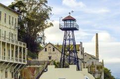 Alcatraz guard tower, San Francisco, California Royalty Free Stock Images
