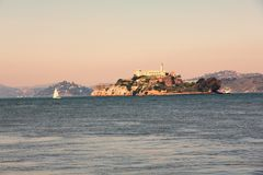 Alcatraz-Inselgefängnis lizenzfreies stockbild