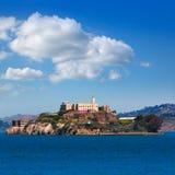 Alcatraz-Inselgefängnis in San Francisco Bay California Lizenzfreies Stockfoto