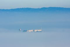 Alcatraz Island. In thick fog Royalty Free Stock Photos