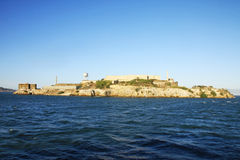 Alcatraz Island. The Alcayraz islandand the prison, San Francisco, USA Stock Images