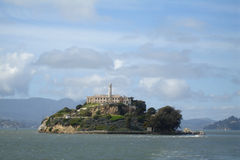 Alcatraz Island from Boat Royalty Free Stock Image