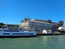 alcatraz island from the boat royalty free stock images