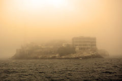 Free Alcatraz Island In San Francisco During The Huge Fog Stock Photos - 38138473