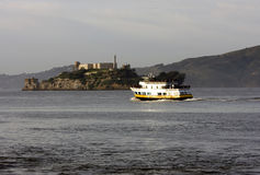 Alcatraz island next to San Francisco Royalty Free Stock Image