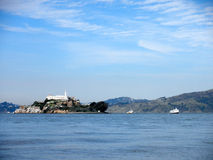 Alcatraz Island on a nice Day Stock Image