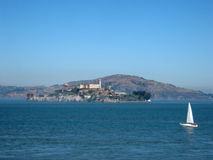 Alcatraz Island on a nice Day Royalty Free Stock Images