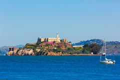 Alcatraz island penitentiary in San Francisco Bay California. USA view from Pier 39 Royalty Free Stock Photos