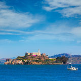 Alcatraz island penitentiary in San Francisco Bay California Royalty Free Stock Photo