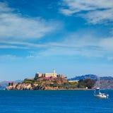 Alcatraz island penitentiary in San Francisco Bay California Royalty Free Stock Photo