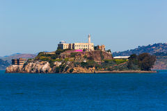 Alcatraz island penitentiary in San Francisco Bay California Stock Photos