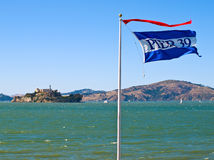 Alcatraz Island from Pier 39 Royalty Free Stock Photo