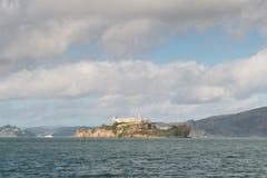 Alcatraz Island at San Francisco. Alcatraz Island is a small island located in the middle of San Francisco Bay in California Stock Photo