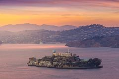 Alcatraz Island in San Francisco Stock Photography