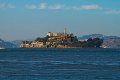 Alcatraz Island in San Francisco Bay Royalty Free Stock Photos