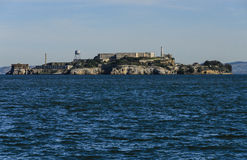 Alcatraz Island in San Francisco Bay Stock Photography