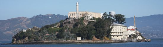 Alcatraz island. In the San Francisco Bay Stock Images