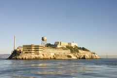 Alcatraz island in San Francisco Bay Royalty Free Stock Images
