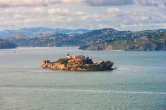 Alcatraz Island in San Francisco Bay. Alcatraz Island in the San Francisco Bay, 1,25 miles offshore of San Francisco, California, USA Royalty Free Stock Photos