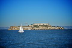 Alcatraz island in san francisco Royalty Free Stock Image