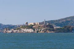 Alcatraz island in San Francisco bay, California with former pri Stock Photos