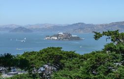 Alcatraz Island in San Francisco Bay Royalty Free Stock Photography
