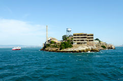 Alcatraz island. In San Francisco bay, California USA Royalty Free Stock Photos