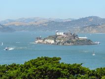 Alcatraz Island in San Francisco Bay Stock Photos
