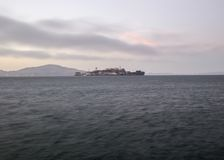 Alcatraz Island and San Francisco Bay Royalty Free Stock Photography