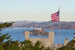 Alcatraz Island. In the San Francisco Bay, once a heavily-guarded federal prison, now a national landmark Stock Images