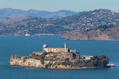 Alcatraz Island. In the San Francisco Bay, once a heavily-guarded federal prison, now a national landmark Royalty Free Stock Images