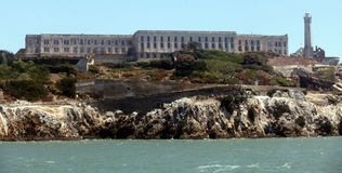 Alcatraz Island, San Francisco Bay Royalty Free Stock Photos