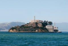 Alcatraz Island, San Francisco Bay, USA. Bright blue water and clear sky Royalty Free Stock Photography