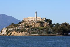 Alcatraz Island in San Francisco California. Closeup of Alcatraz Island in San Francisco California Royalty Free Stock Photography