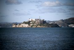 Alcatraz island in San Francisco, California. Looking over the bay Royalty Free Stock Photo