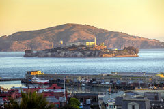 Alcatraz Island in San Francisco Royalty Free Stock Photo