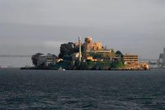 Alcatraz Island in San Francisco, USA. Prison Alcatraz in San Francisco, as seen from the sea Royalty Free Stock Photography