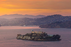 Alcatraz Island in San Francisco Stock Photography
